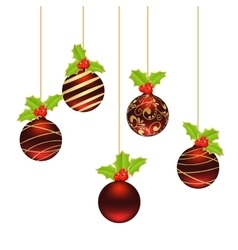 Christmas balls template vector