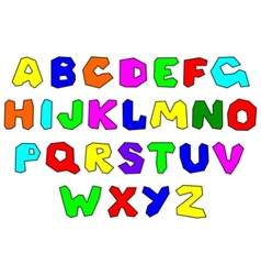 Colorfull alphabet vector