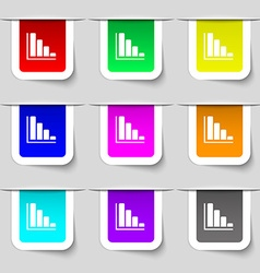 Infographic icon sign set of multicolored modern vector