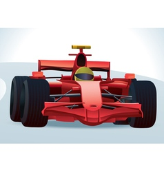 F1 racing car vector