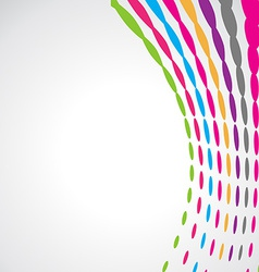 Abstract colorful wave design vector