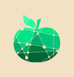 an apple multicolor vector image