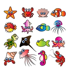 aquatic animals vector image
