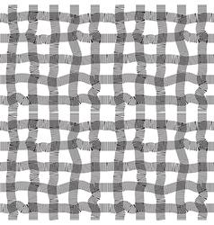 Black and white geometric stripe seamless pattern vector