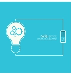 Bulb light idea with switch vector