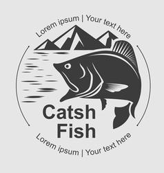 Catch fish symbol vector