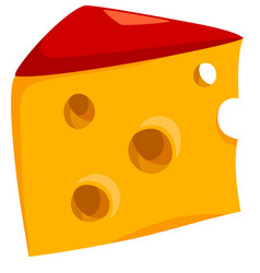 Cheese food object vector