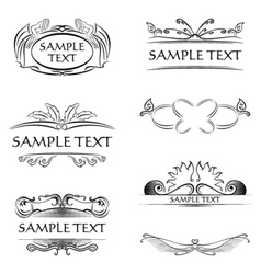 Decorations and frames vector image vector image