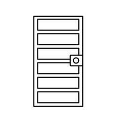 door frame icon vector image vector image