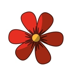 Flower drawing isolated icon vector