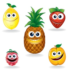 Fruit Cartoons vector image vector image