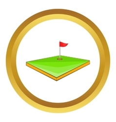 Golf course icon vector