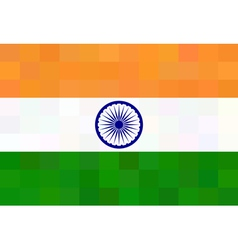 Indian flag - square polygonal style vector image