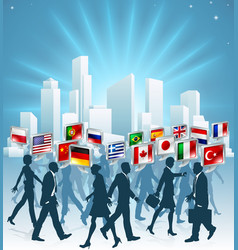international business concept vector image