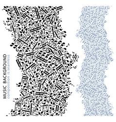 Light seamless music composition black vertical vector