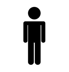 male figure silhouette icon vector image vector image