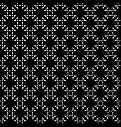 Monochrome ornament seamless pattern vector