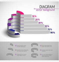 Multicolored diagram template vector