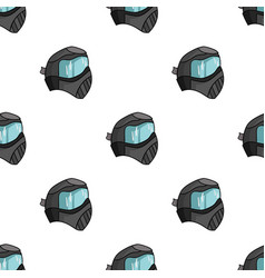 Paintball mask icon in cartoon style isolated on vector