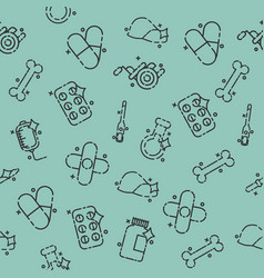 pharmacy concept icons pattern vector image vector image