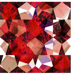 red color mosaic seamless pattern vector image vector image