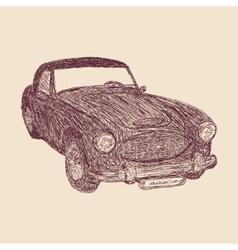 Retro car sketch vector