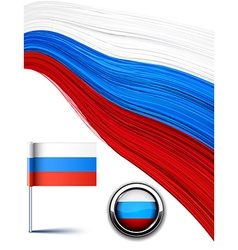 Russian flag vector image vector image