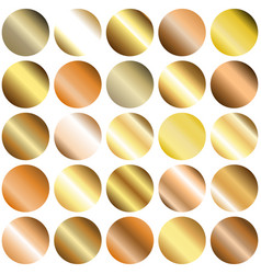 Set of circle gradient backgrounds vector