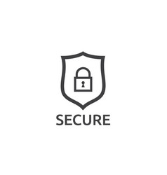 Shield line icon internet vpn security concept vector