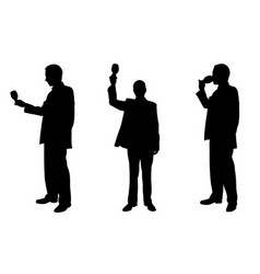 silhouettes of people toasting vector image vector image