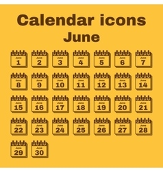 The calendar icon June symbol Flat vector image vector image