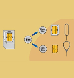 User adaptation sim card vector