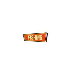 vintage hand drawn camping sign travel badge - vector image vector image