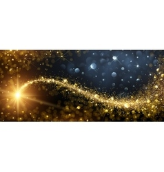 Christmas background with gold star vector