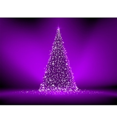 Abstract purple christmas tree on purple EPS 8 vector image