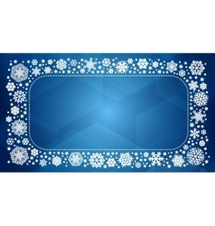 Frame with white snowflakes vector
