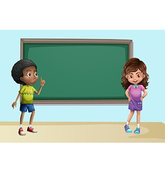 Children in classroom vector