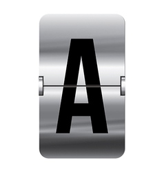 Alphabet silver flipboard letters a vector