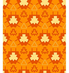 Orange yellow color abstract geometric seamless vector