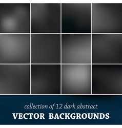 Set of twelve blurred background vector