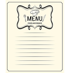 Line paper design with menu vector