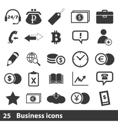 25 business icons set vector