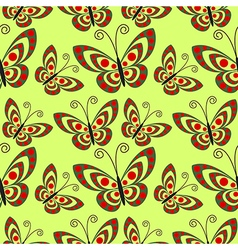 Seamless pattern with close-up butterflies vector