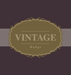 Vintage retro badge and label design template vector