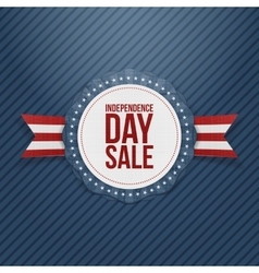 Independence day sale realistic tag vector