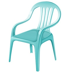 A plastic chair furniture vector
