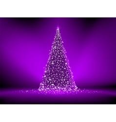 Abstract purple christmas tree on purple EPS 8 vector image vector image