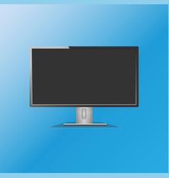 black led monitor wide screen vector image