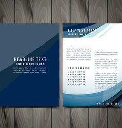 Blue business brochure design vector