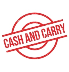 Cash And Carry rubber stamp vector image
